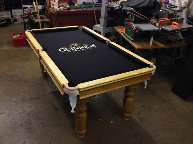 Pool Table Recovering Drinkwaters - Guinness pool table