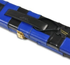 Peradon Black & Blue Leather Case
