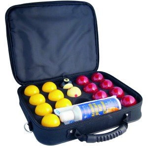 2″ Super Aramith Pro Cup League Pool Balls with Case & Cleaner