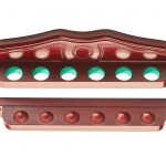 Mahogany Coloured Cue Rack for 6 Cues