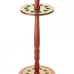 Mahogany Circular Floor Standing Cue Rack for 10 Cues